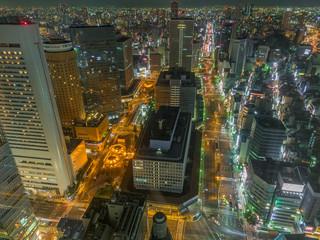 Night view Osaka ,Japan