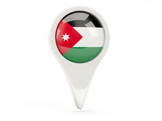 Round flag icon of jordan