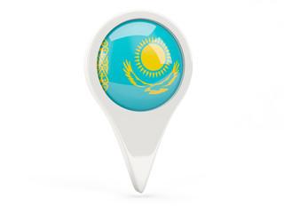 Round flag icon of kazakhstan