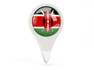 Round flag icon of kenya