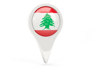 Round flag icon of lebanon