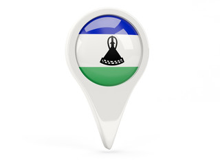 Round flag icon of lesotho
