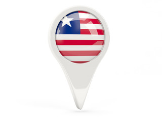 Round flag icon of liberia