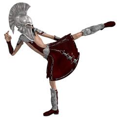 roman soldier cartoon karate