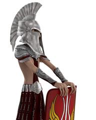 roman soldier cartoon shield side view