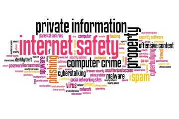 Internet safety - word cloud concepts