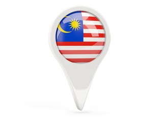 Round flag icon of malaysia