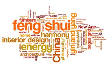 Feng shui - word cloud concepts