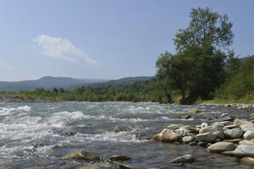 mountain river in the Caucasus