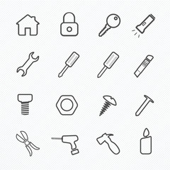 Tool Home Icon Set, Vector illustration
