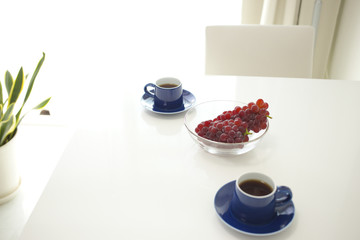 コーヒーとブドウ
