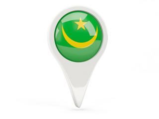 Round flag icon of mauritania