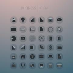 Icon set business on background, vector illustration