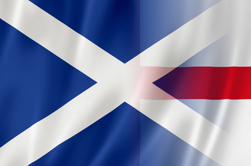 Flags of England & Scotland