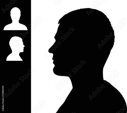Young man head silhouette - 70082414