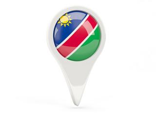 Round flag icon of namibia