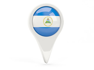 Round flag icon of nicaragua