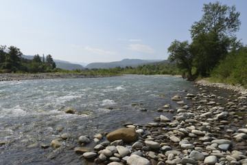 mountain river in the Caucasus