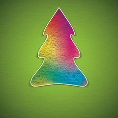Creative colorful illustration of a Christmas tree