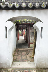 Doorway in Yu Yuan Garden
