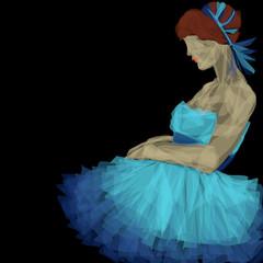 abito da sera blu