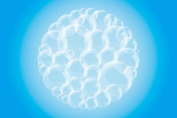 背景素材テクスチャ(水泡, 海の泡, 海, 水中, 水玉, シャボン玉, )