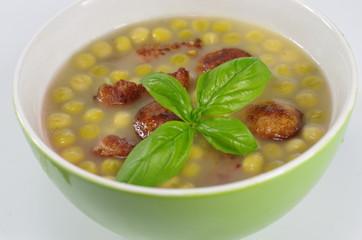 appetizing pea soup