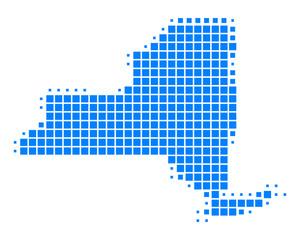Karte von New York