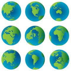 Earth globes set