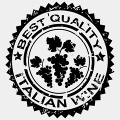 Grunge stamp quality label for Italian wine