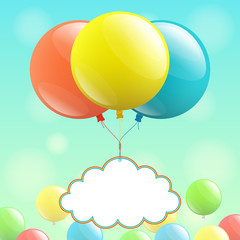 Balloons and cloud for congratulations