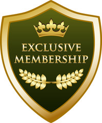 Exclusive Membership Gold Shield
