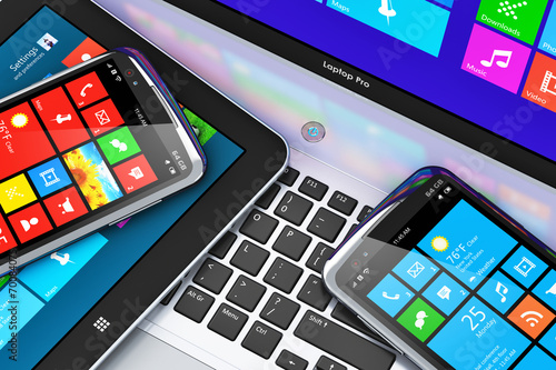 Mobile devices with touchscreen interface - 70084075