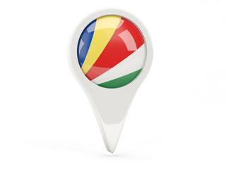 Round flag icon of seychelles