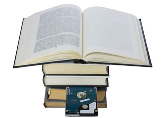 Book with embedded hard drive