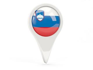 Round flag icon of slovenia