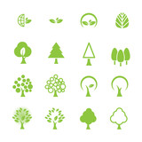 tree icon set mouse pad