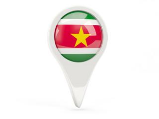 Round flag icon of suriname