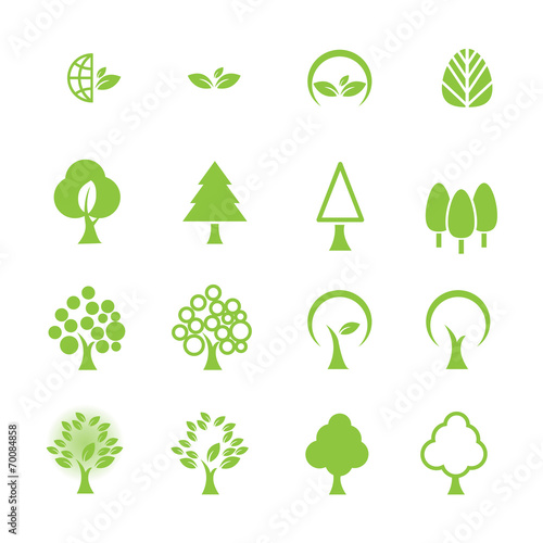 tree icon set - 70084858