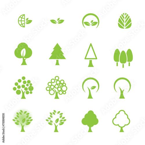 Fototapeta tree icon set