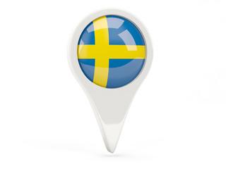 Round flag icon of sweden
