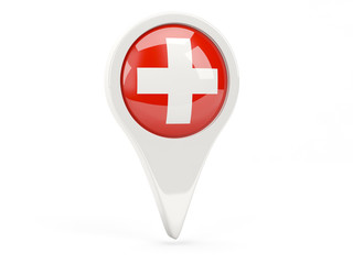 Round flag icon of switzerland