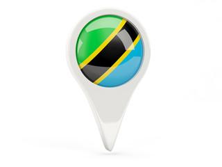 Round flag icon of tanzania