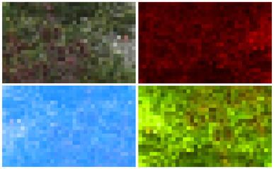 Set of mosaic backgrounds - vector illustration