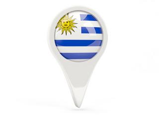 Round flag icon of uruguay