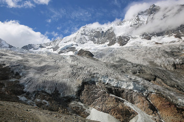 Fee Gletscher in Saas-Fee. Schweiz