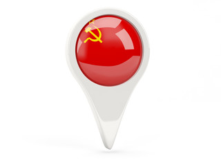 Round flag icon of ussr