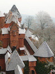 Snowy Castle Rooftops Cone / Triangle Pattern in France