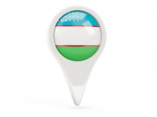 Round flag icon of uzbekistan
