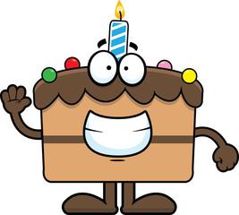 Cartoon Birthday Cake Grinning
